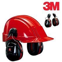 3M™ PELTOR™ OPTIME™ III earmuffs with helmet attachments (H540P3E-413-SV)